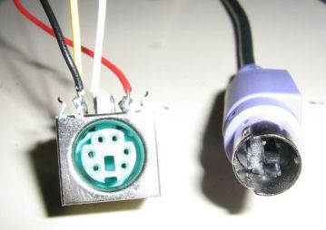 PS2 female and male conectors