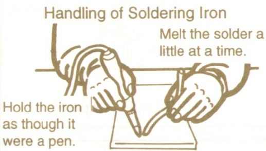 how to hold solder